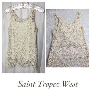 Saint Tropez West Tank Top Crochet Boho